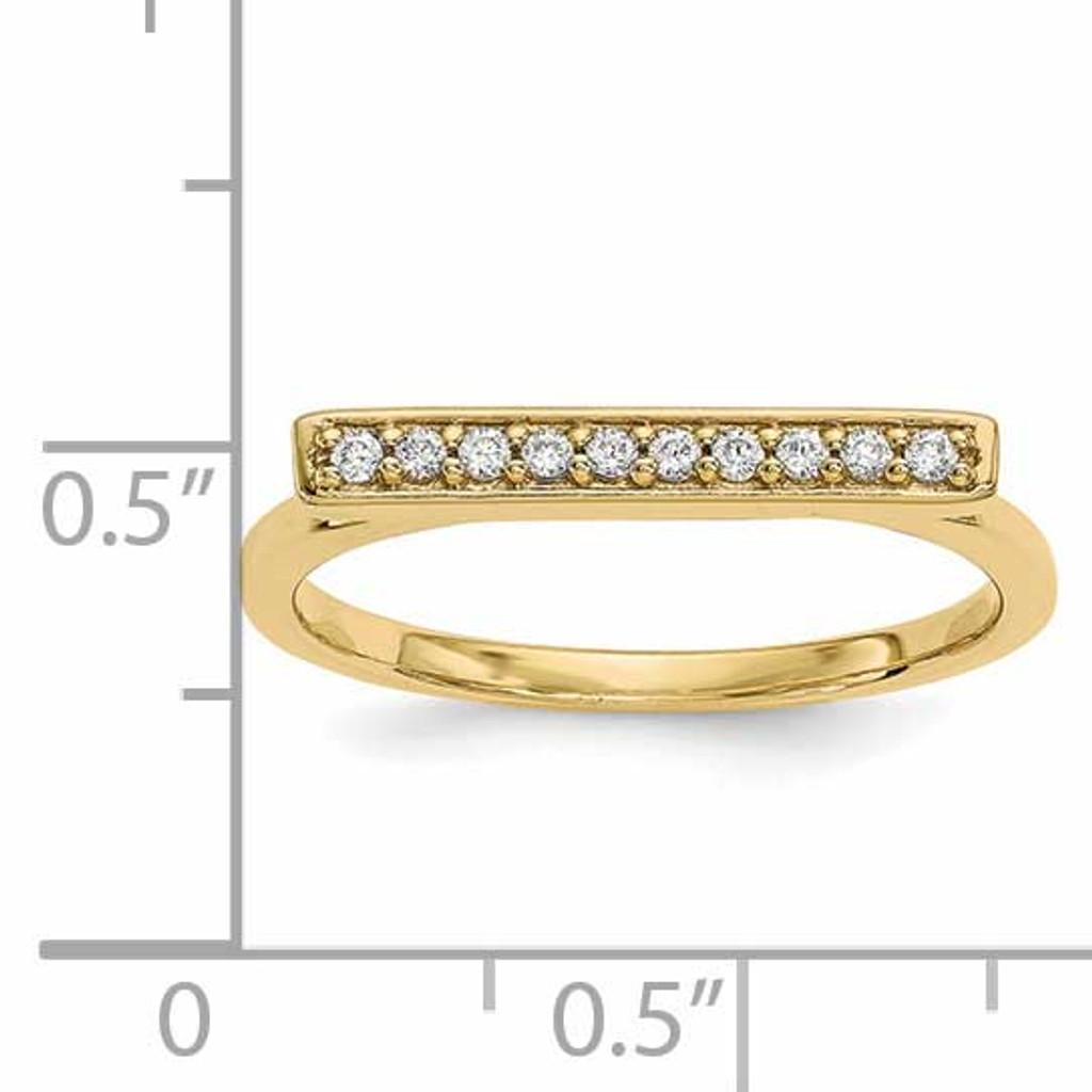 Diamond Bar Ring 14k Gold Y13742VS