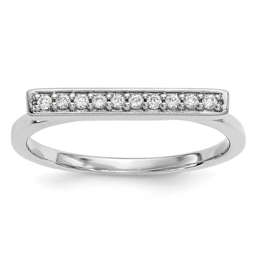 Diamond Bar Ring 14k White Gold MPN: Y13742WVS UPC: