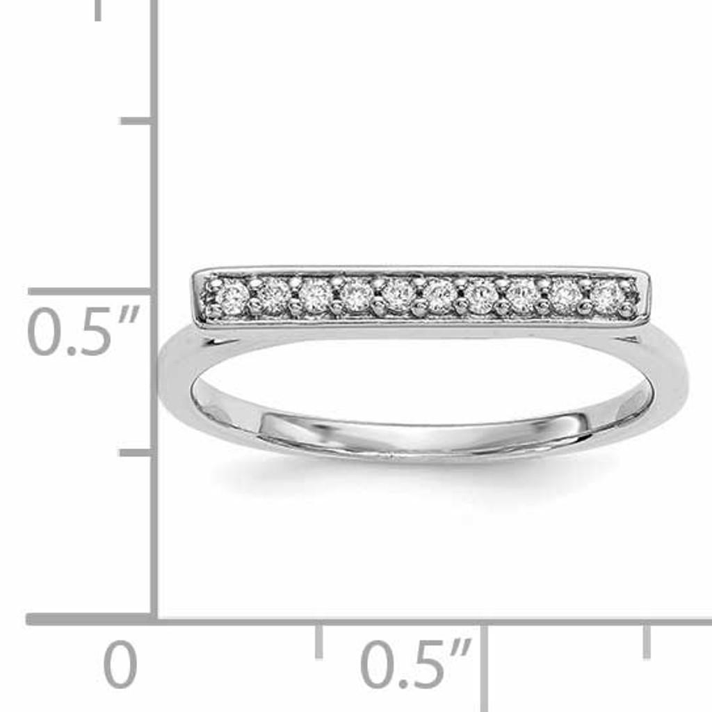 Diamond Bar Ring 14k White Gold Y13742WVS