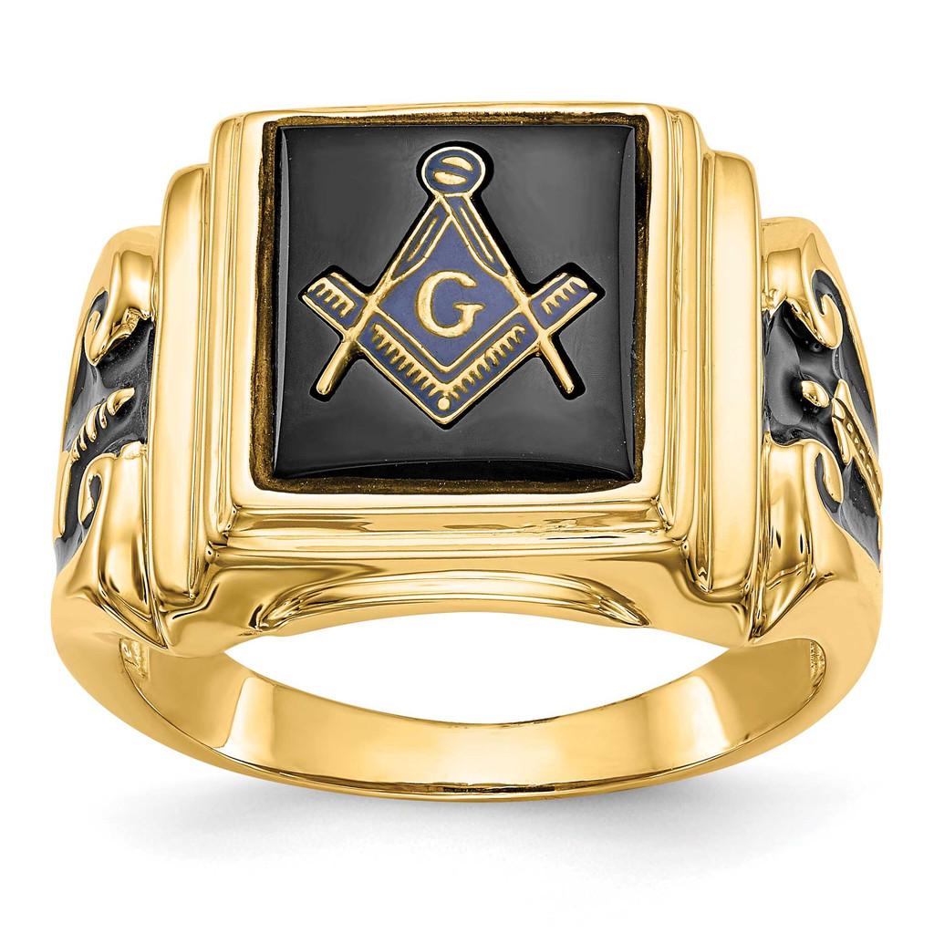 Men's Masonic Ring 14k White Gold MPN: Y1593WM UPC: 883957132419