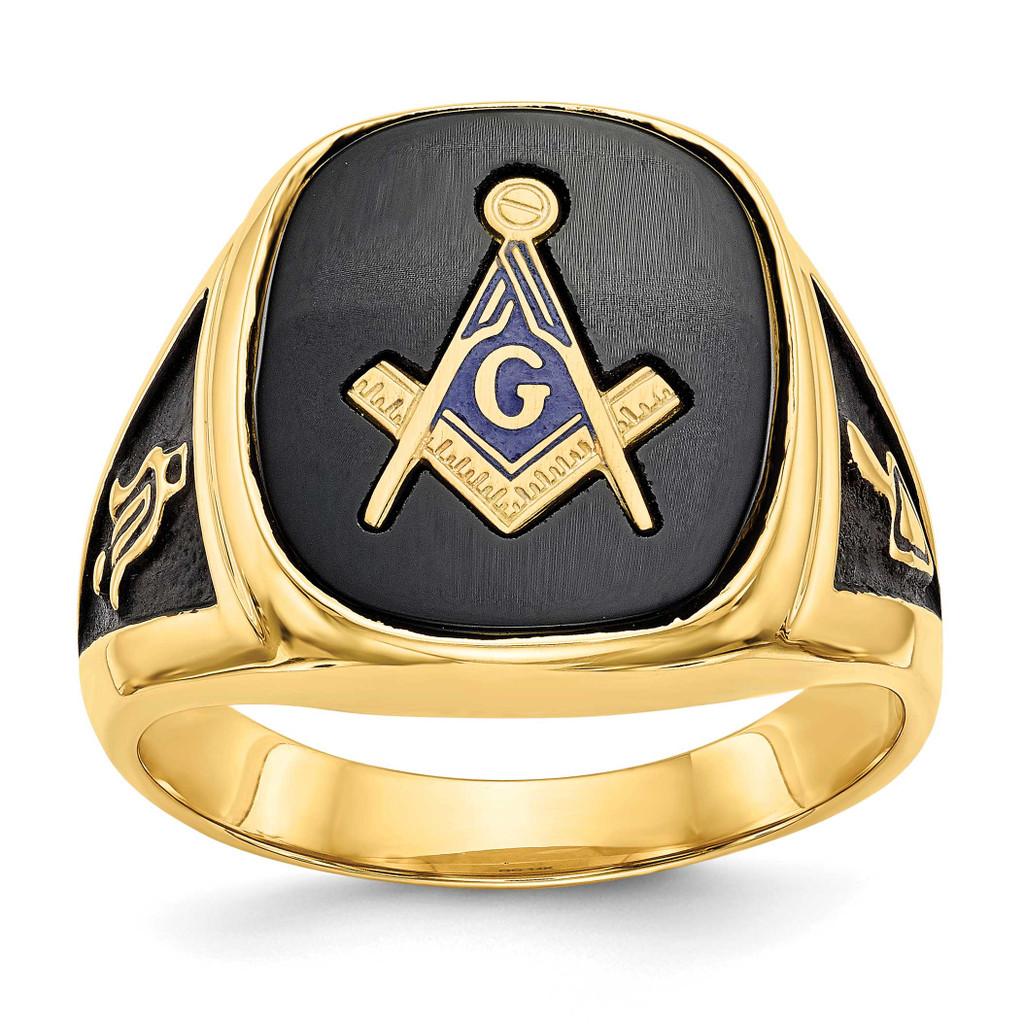 Men's Masonic Ring 14k White Gold MPN: Y1596MW UPC: 883957132426