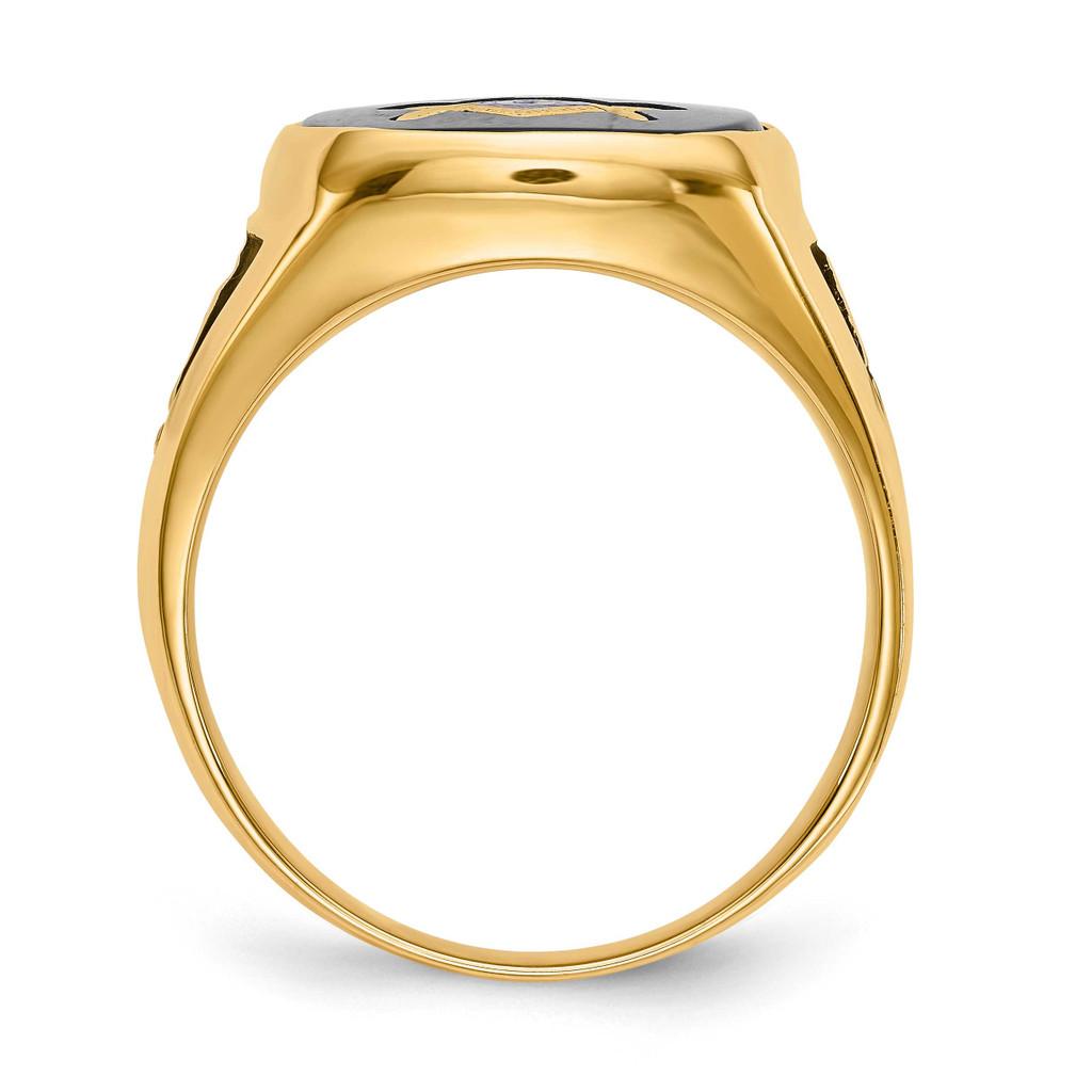 Men's Masonic Ring 14k White Gold Y1596MW