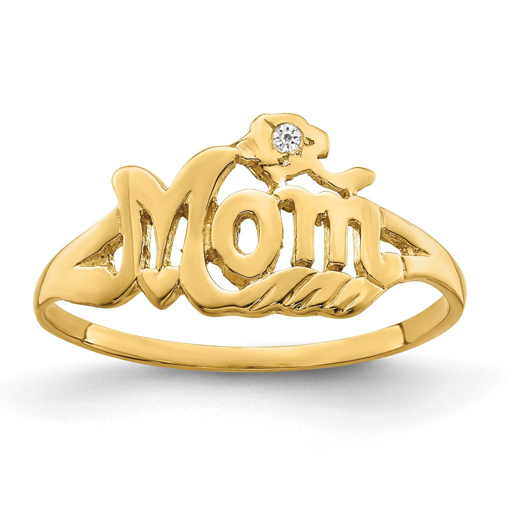 A Diamond Mom Ring 14k Gold MPN: Y2331A UPC: 883957193786