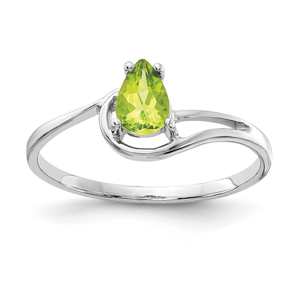Yellow Gold 6X4mm Pear Peridot Ring 14k Gold MPN: Y4627YPE UPC: 883957132433
