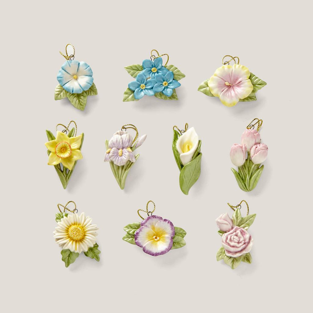 Lenox Ornament Sets Celebrate Flowers10-Piece Ornament Set 882637