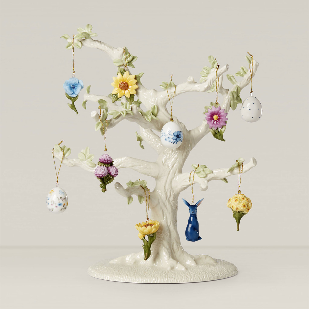 Lenox Ornament Sets Floral Easter10-Piece Ornament Set and Tree 893394