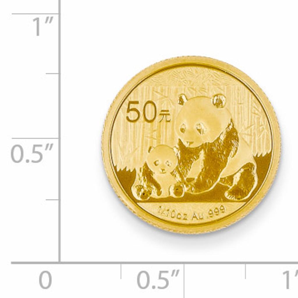 24k Gold 1/10oz Panda Coin 1/10P