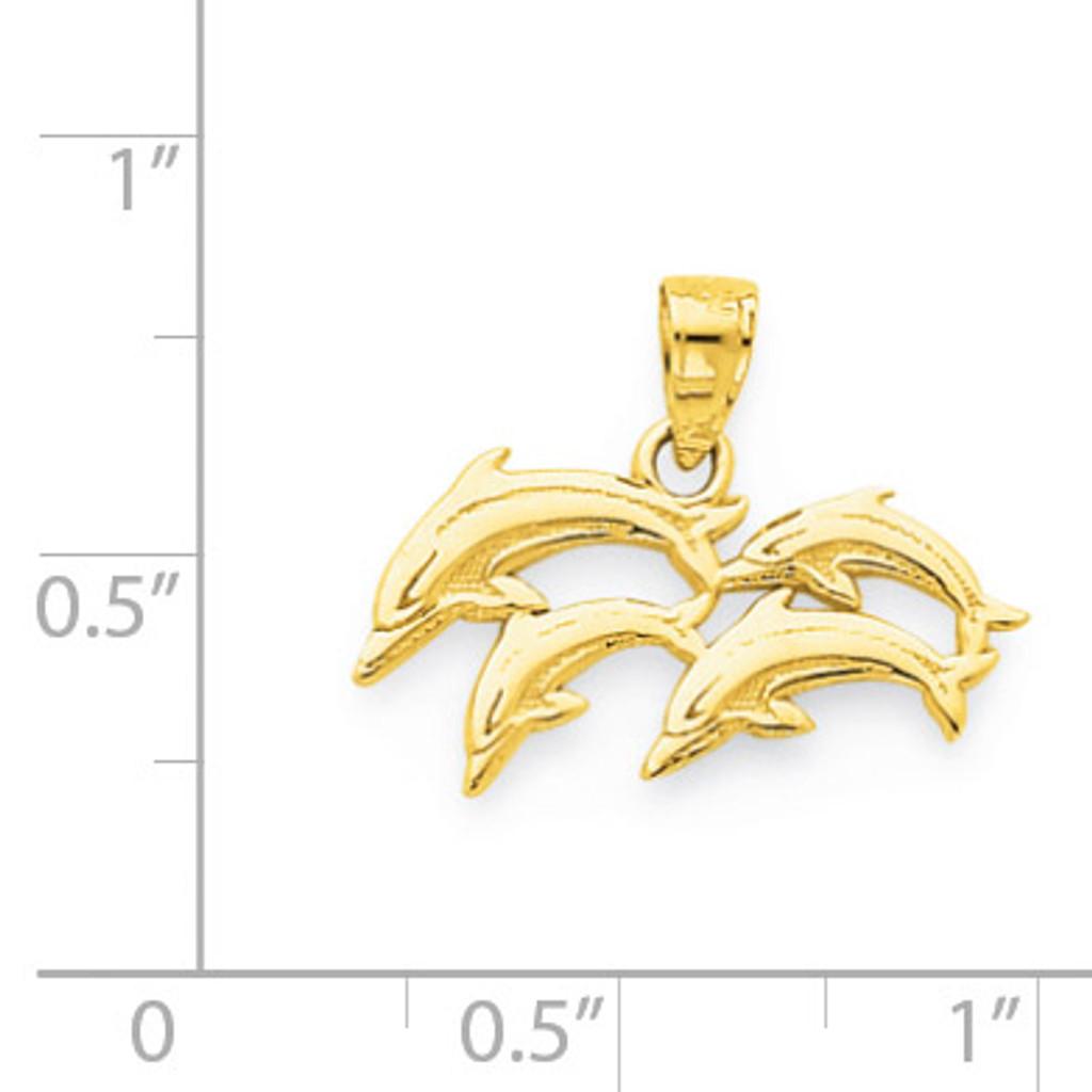 Dolphin Charm 10k Gold 10C1025