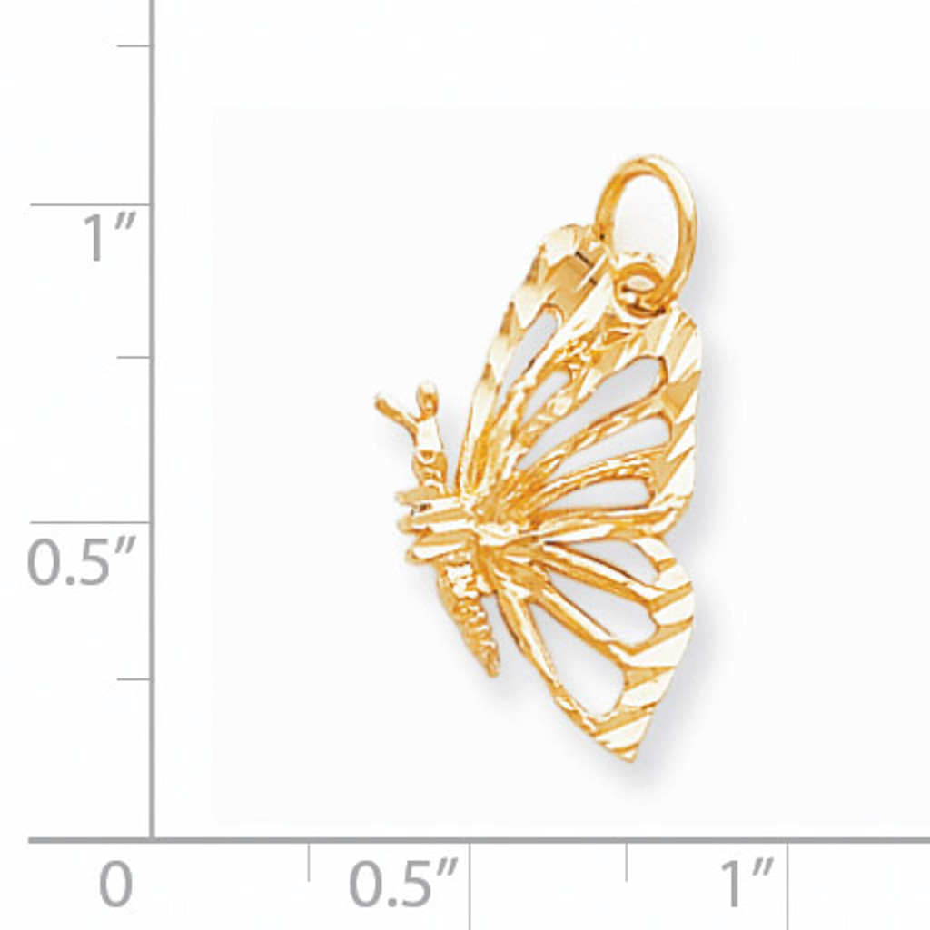 BUTTERFLY CHARM 10k Gold 10C642