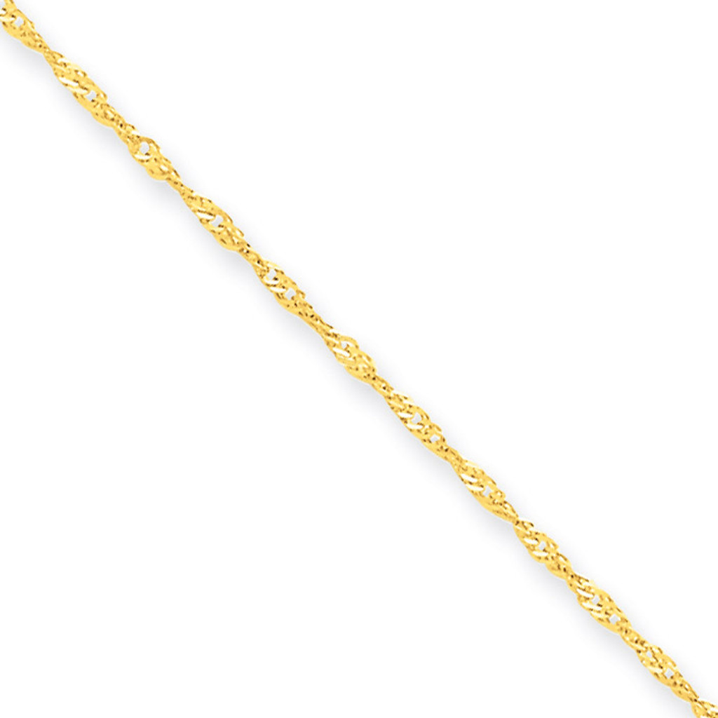 1.10mm Singapore Chain 18 Inch 10k Gold 10KPE9-18