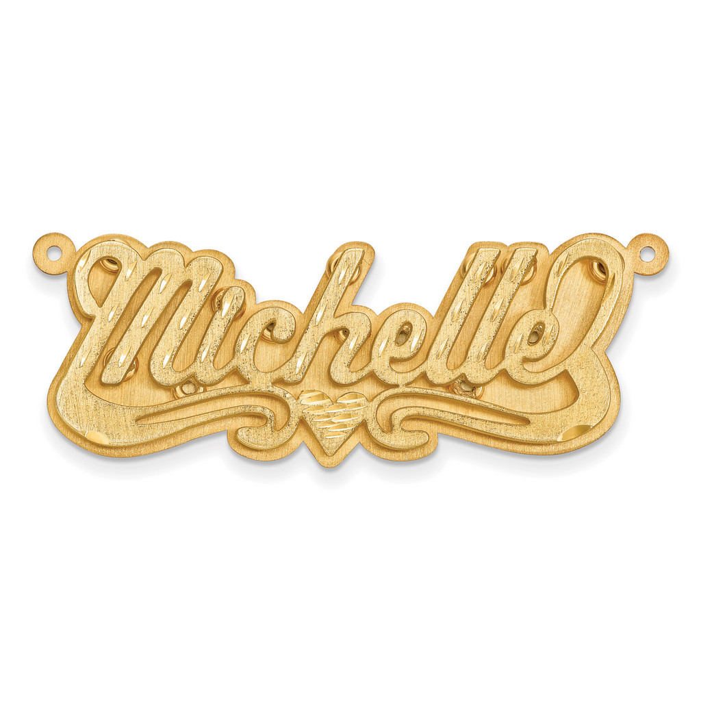 Satin Diamond-cut 3D Nameplate 10k Gold, MPN: 10XNA239Y