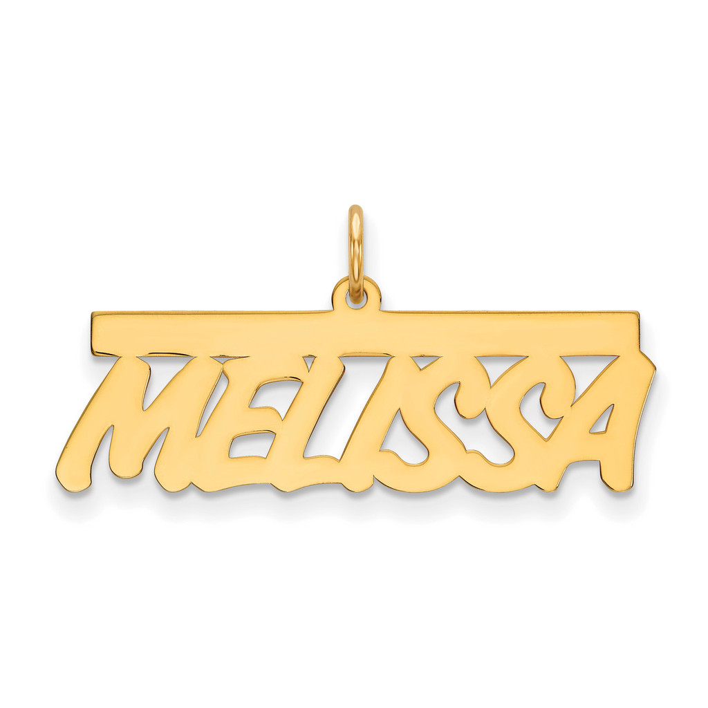 0.013 Gauge Polished Nameplate 10k Gold, MPN: 10XNA78Y