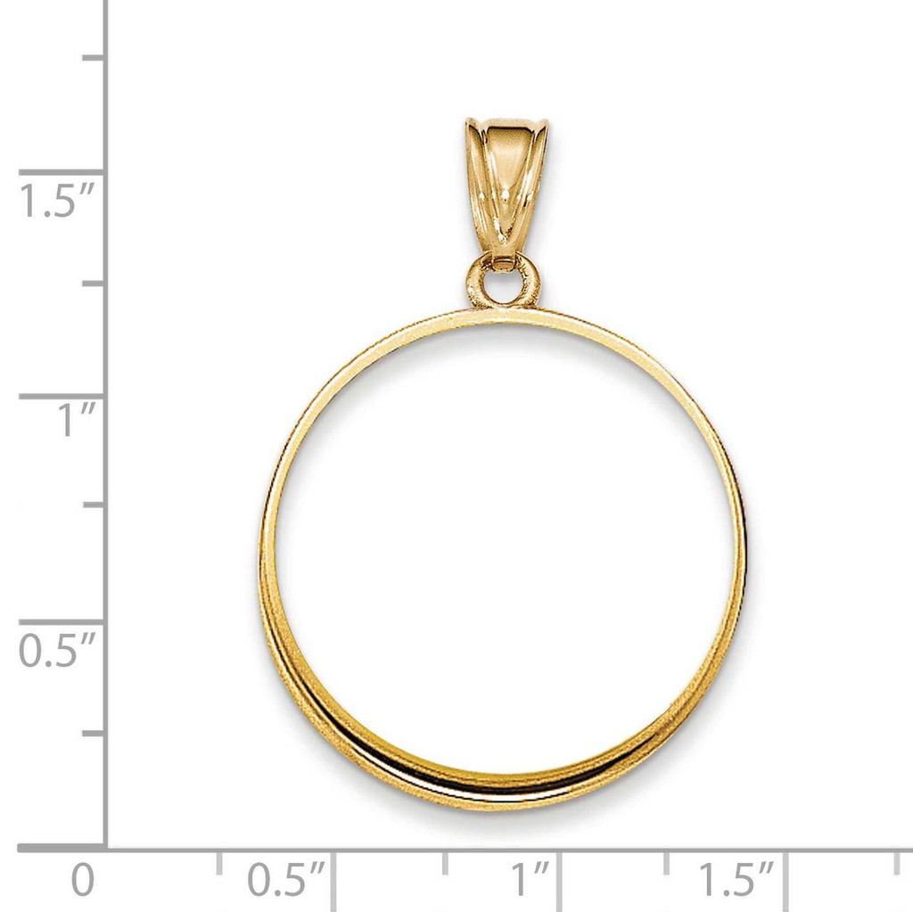 Prong 1/2AE Coin Bezel 14k Gold Polished BA50/2AE