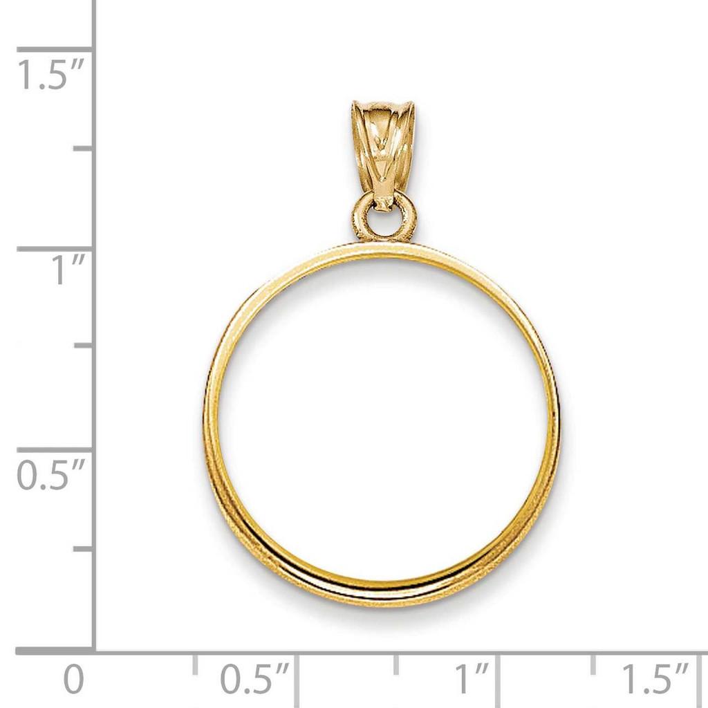 Prong 1/4AE Coin Bezel 14k Gold Polished BA50/4AE