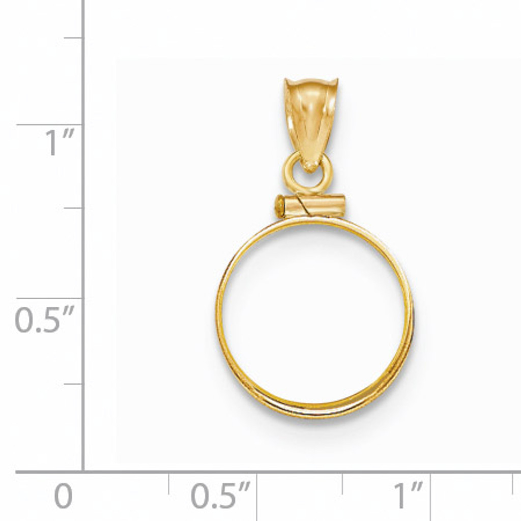 Screw Top 1/20P Coin Bezel 14k Gold Polished BP10/20P