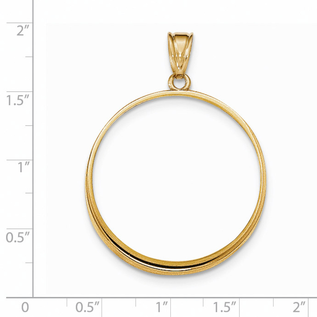 Prong 1P Coin Bezel 14k Gold Polished BP50/1P