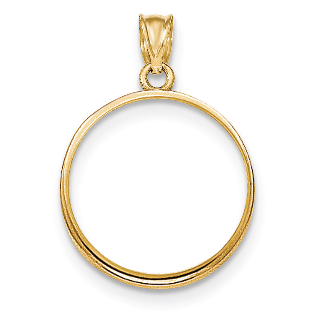 Prong 1/4P Coin Bezel 14k Gold Polished BP50/4P