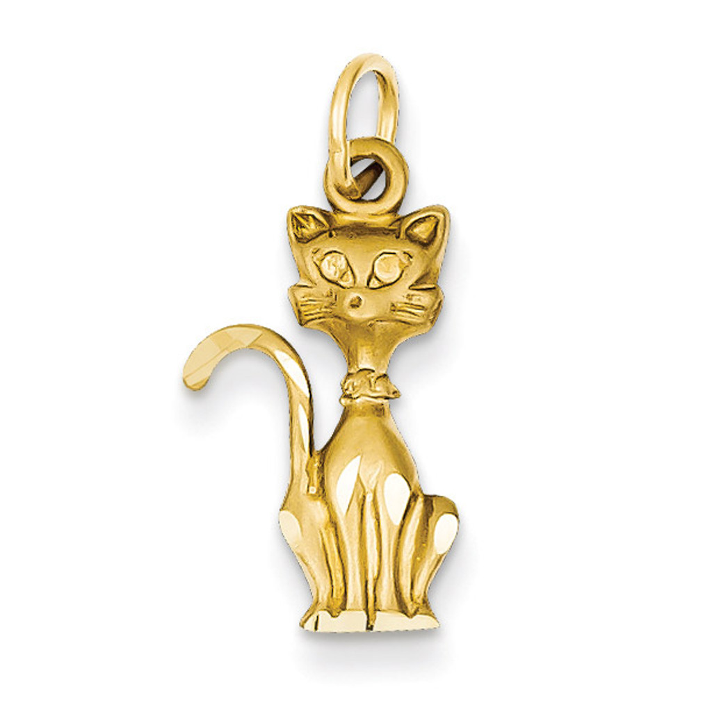 Tom Cat Charm 14k Gold C1133