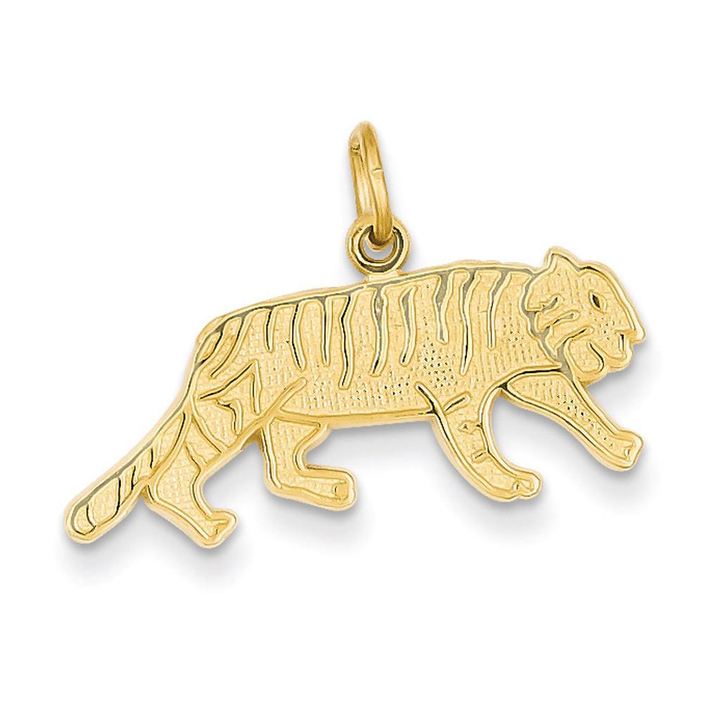 Tiger Charm 14k Gold C1845