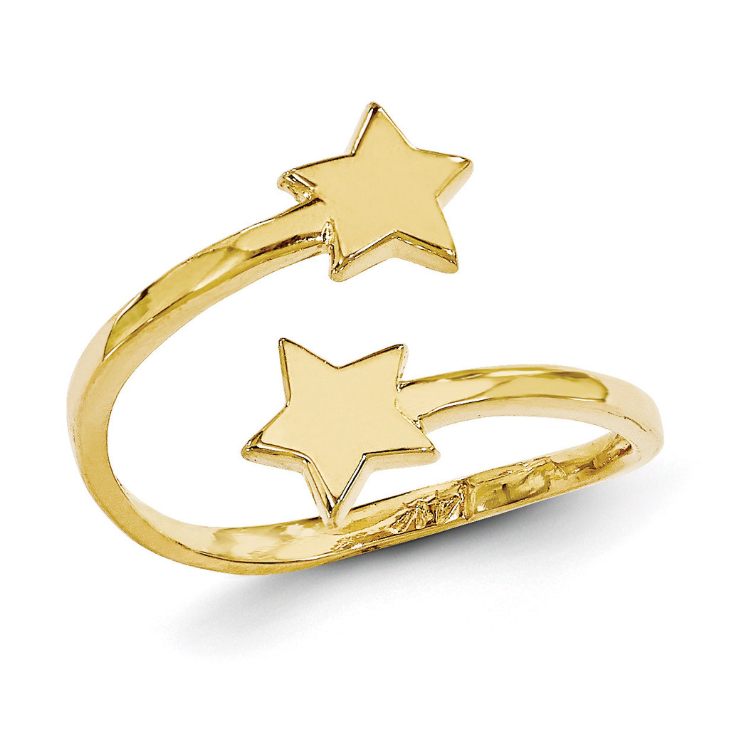 Star Toe Ring 14k Gold C2080