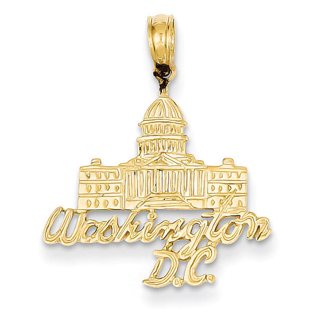 Washington D.C. Capitol Building Pendant 14k Gold C3097