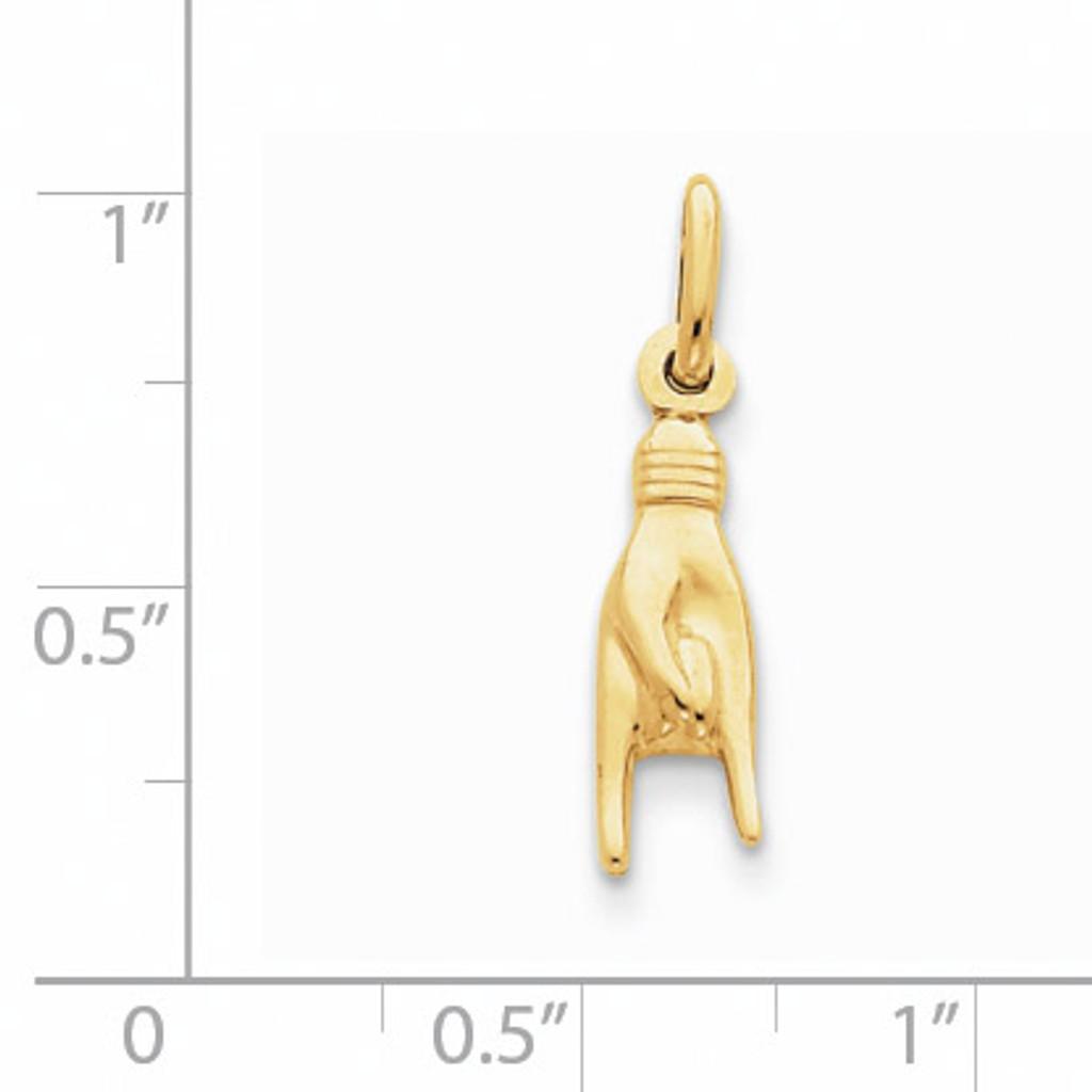 Good Luck Hand Charm 14k Gold D2919