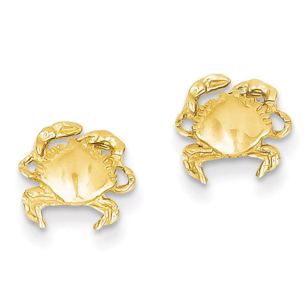 Crab Earrings 14k Gold E907
