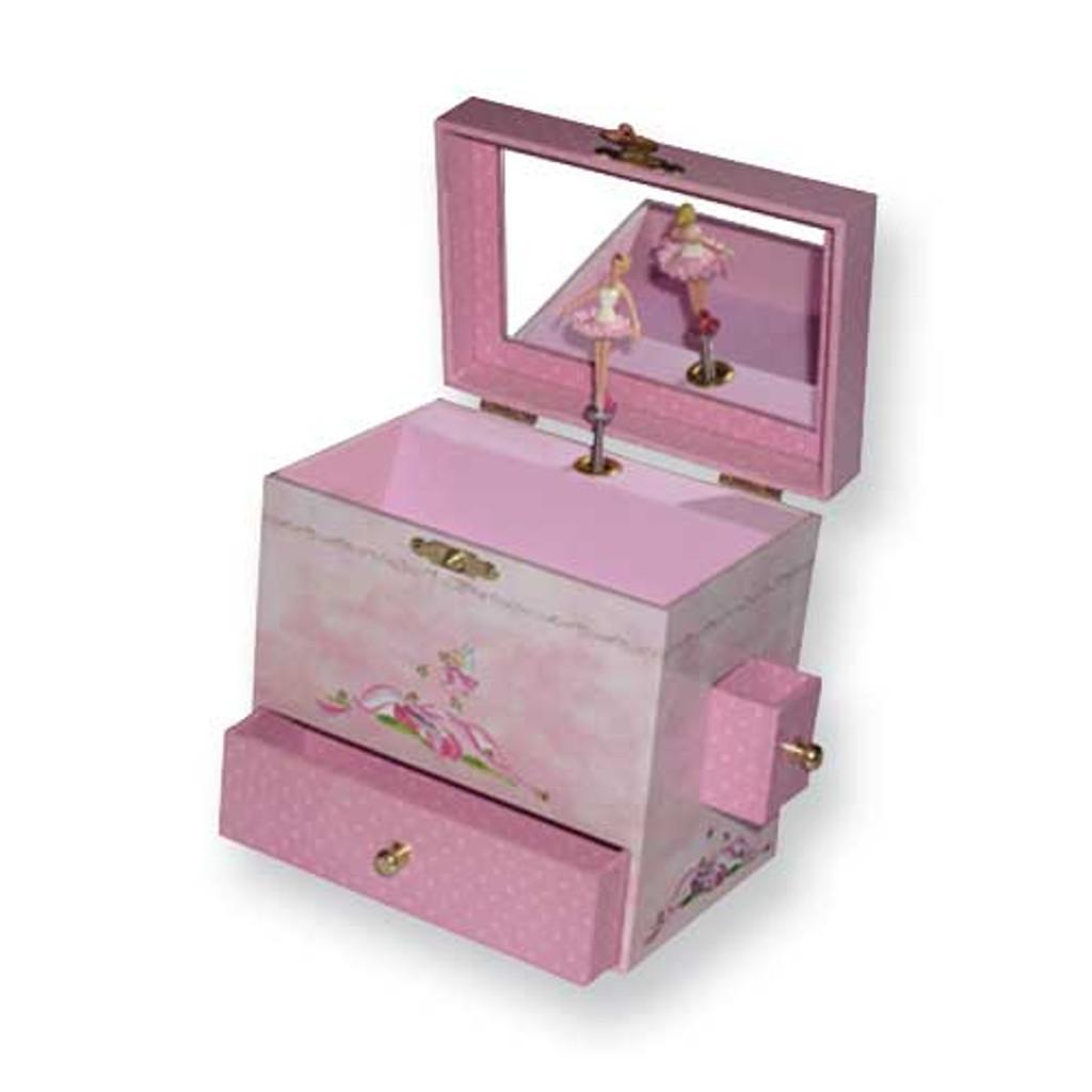 Childrens Ballerina Musical Jewelry Box GL6907