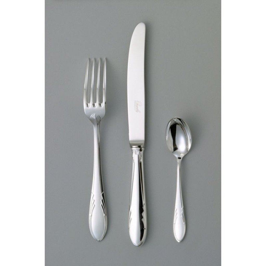 Chambly Art Deco Serving Fork - Silver Plated