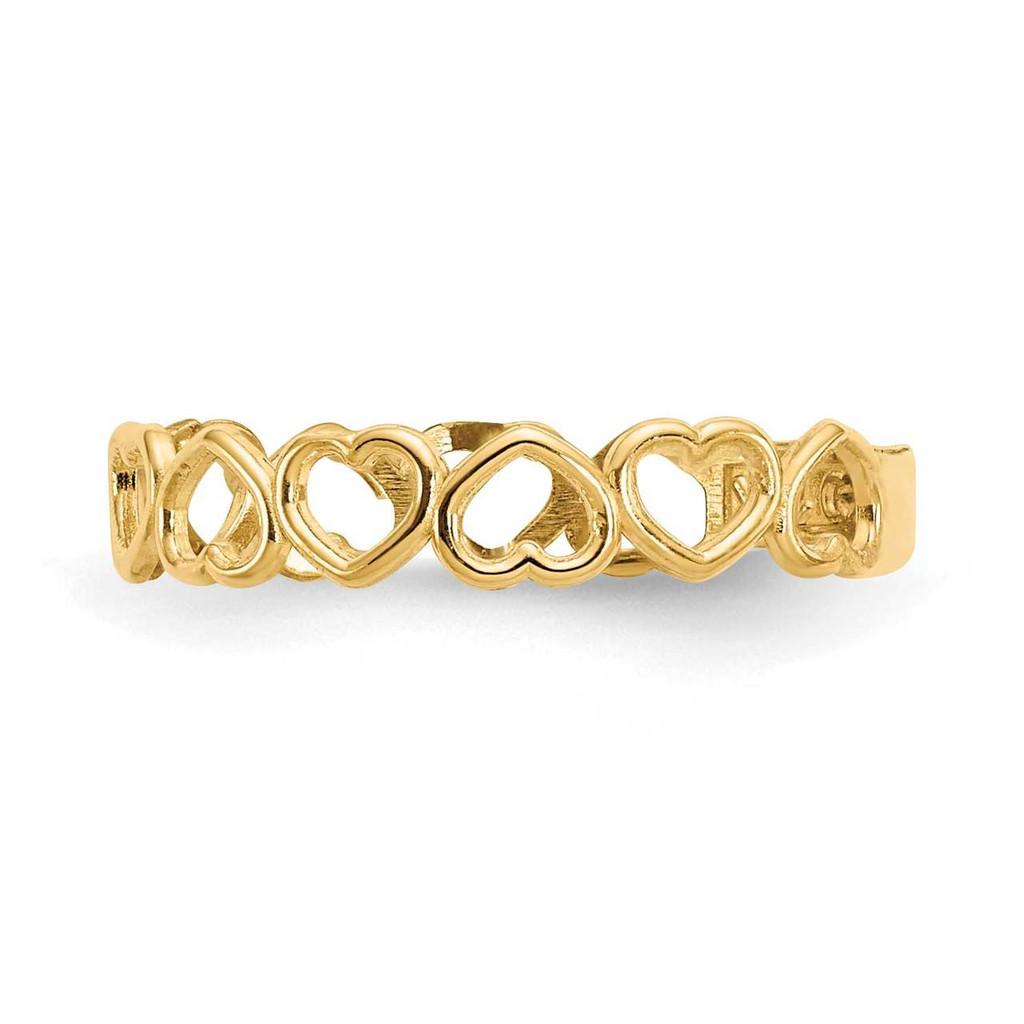 Open Hearts Toe Ring 14k Gold K3838