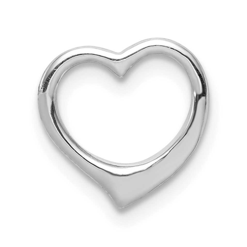 3-D Floating Heart Pendant 14k White Gold K3973