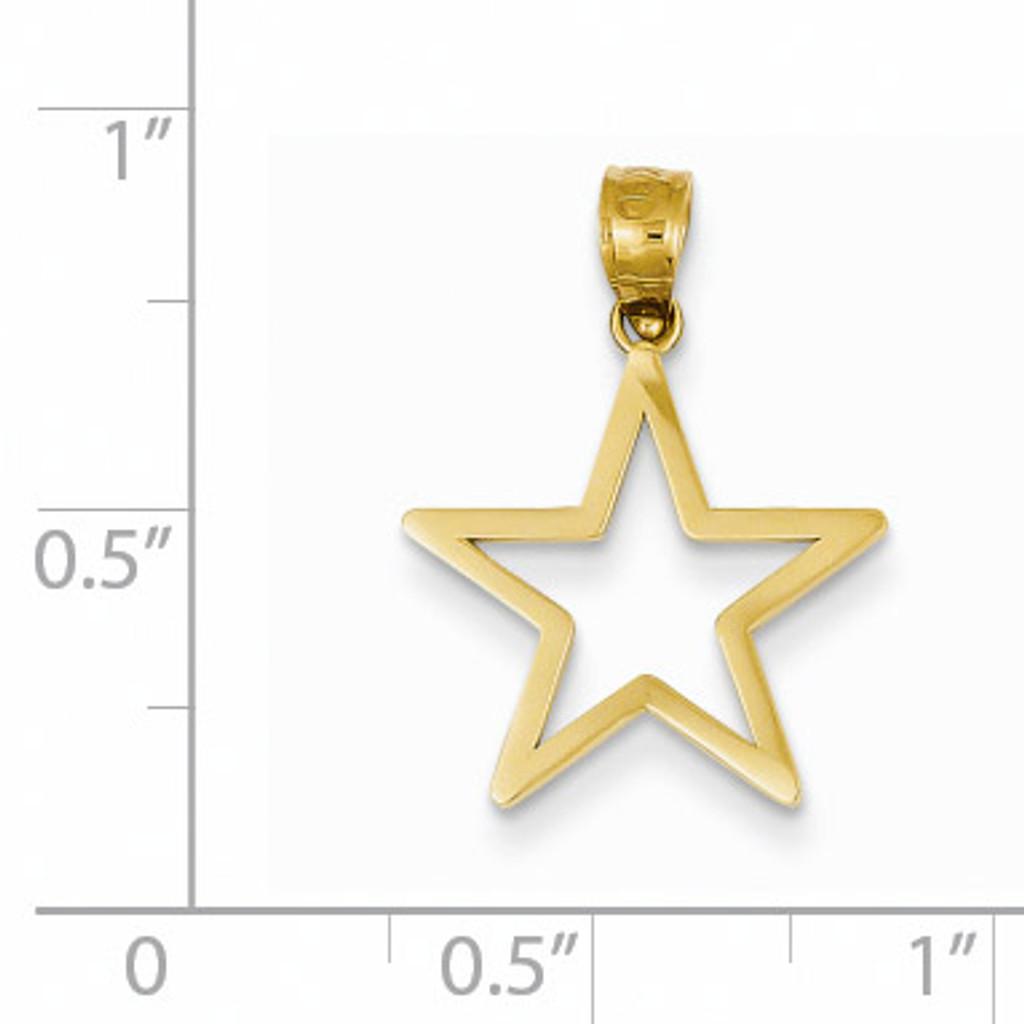 Star Charm 14k Gold K4810