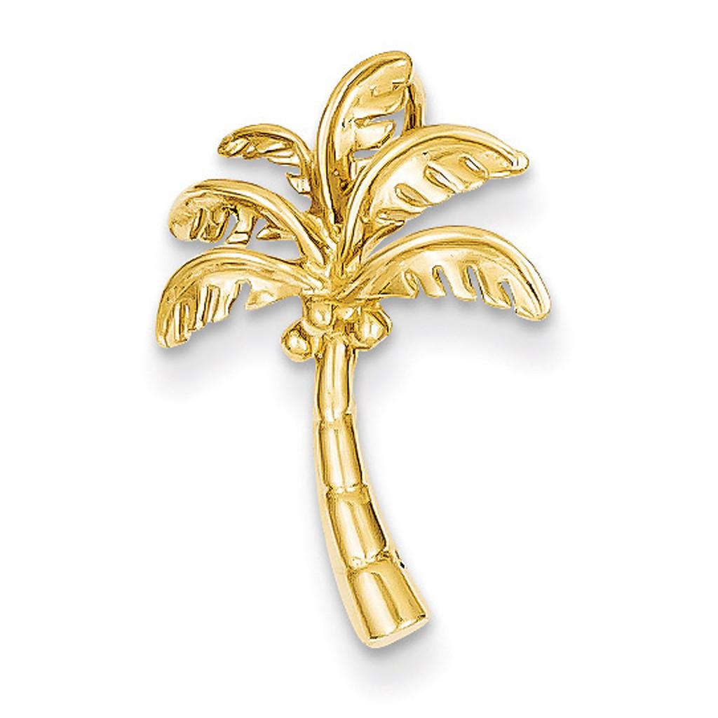 Palm Tree Slide 14k Gold K4914
