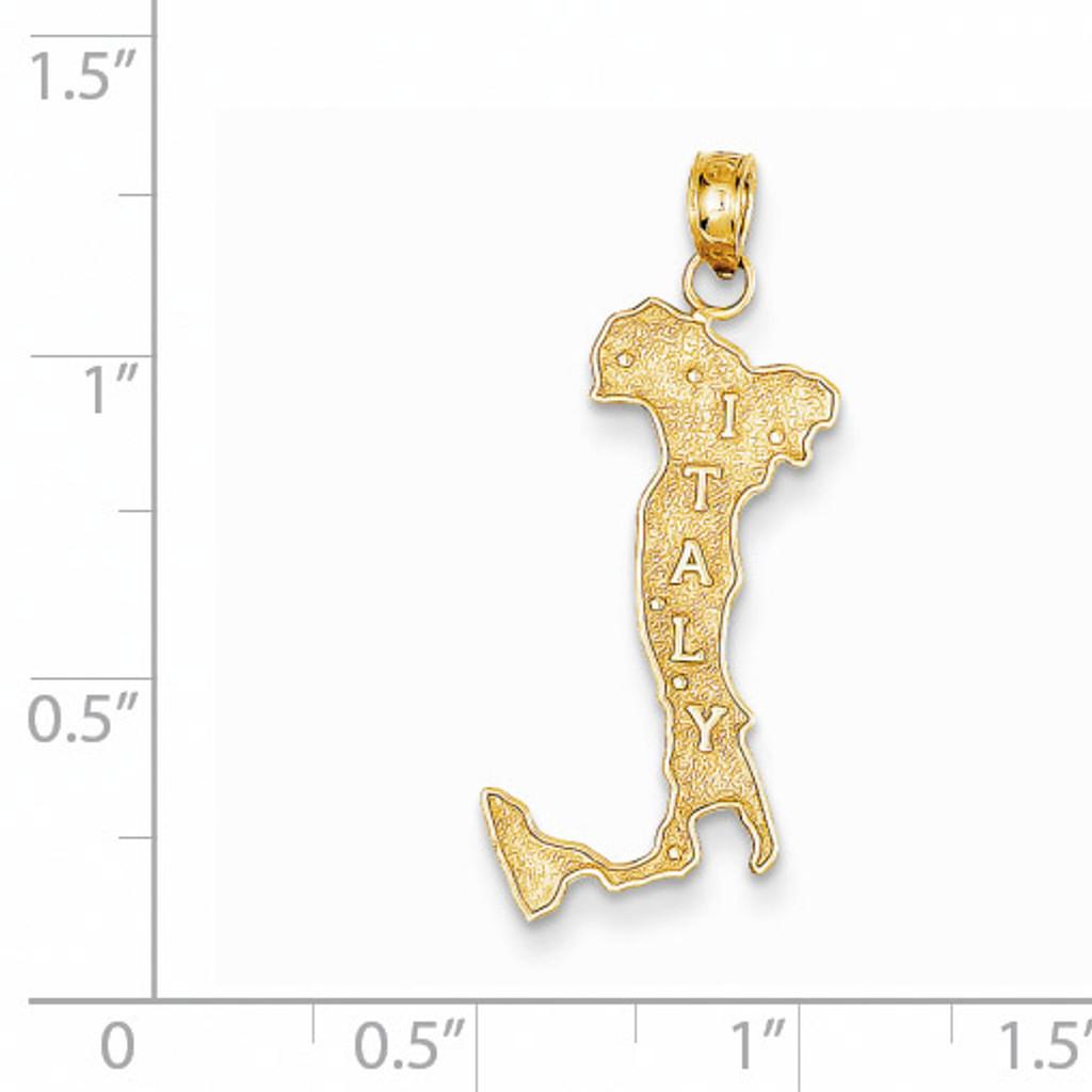 Italy Charm 14k Gold K4921