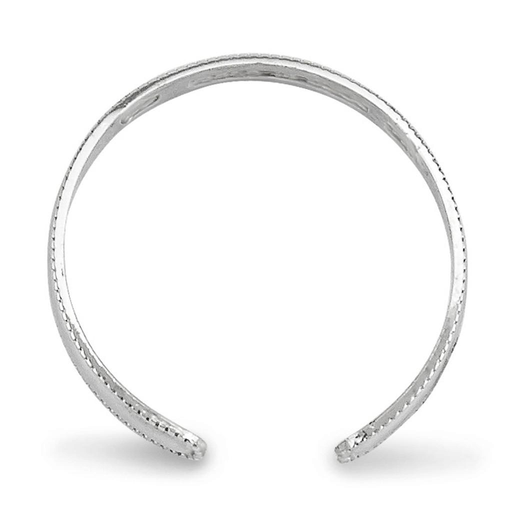 Polished Toe Ring 14k White Gold K5111