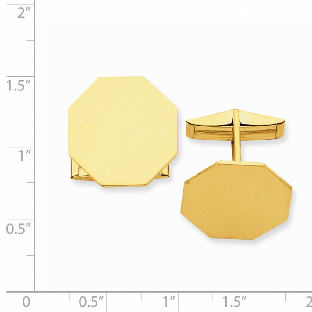 Octagon Cufflinks 14k Gold MC247
