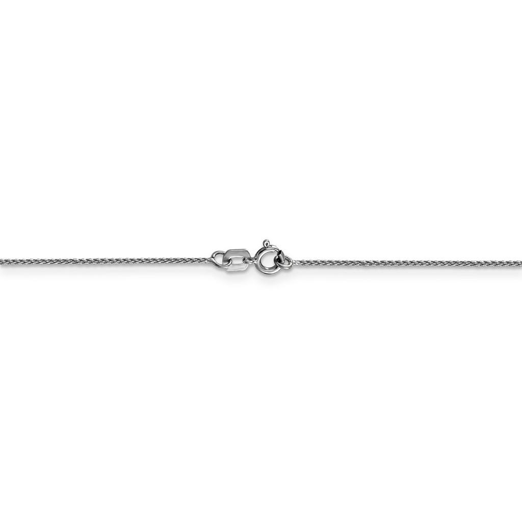 0.65mm Diamond-cut Spiga Pendant Chain 24 Inch 14k White Gold PEN152-24