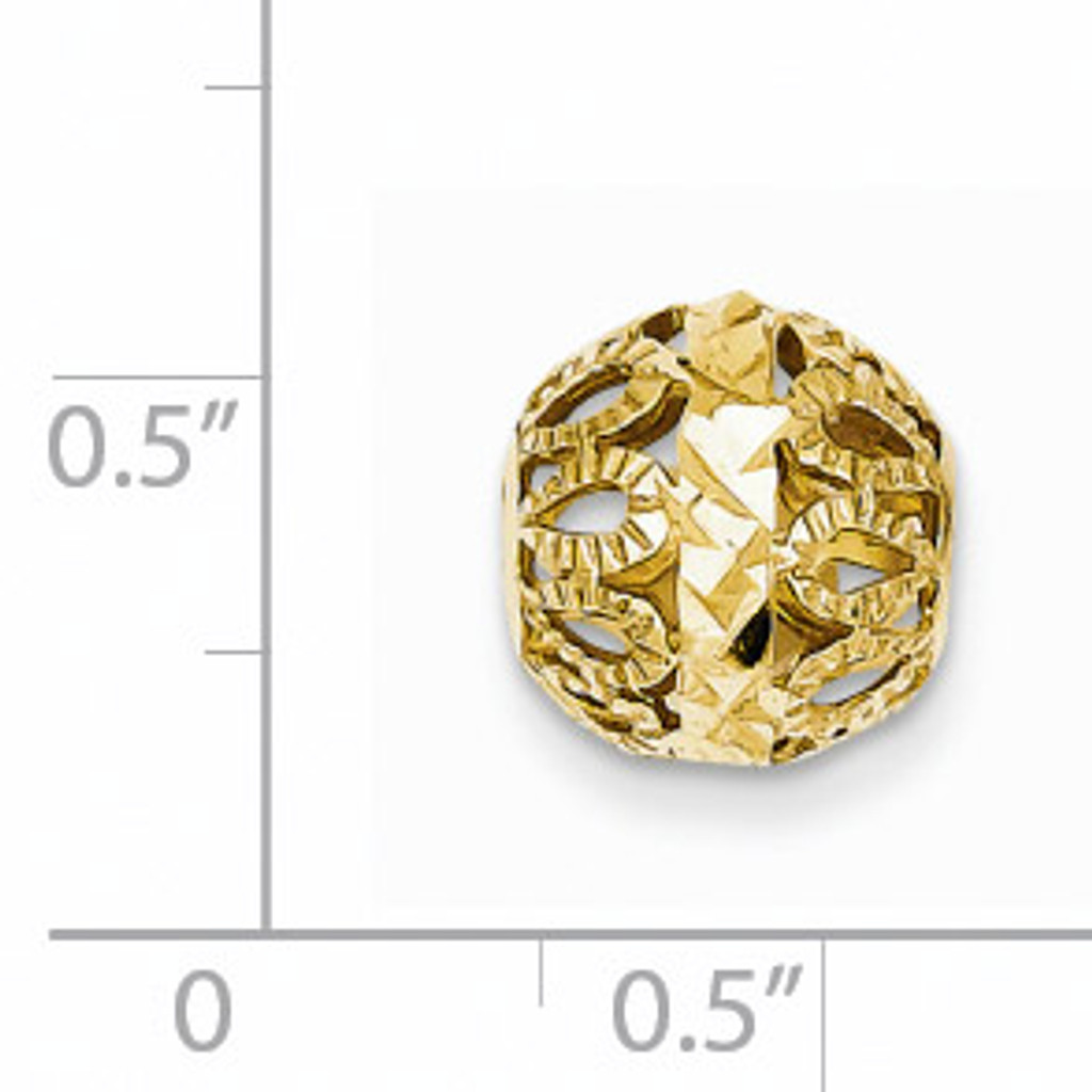 14k Diamond-cut Gold Ball Chain Slide SL135