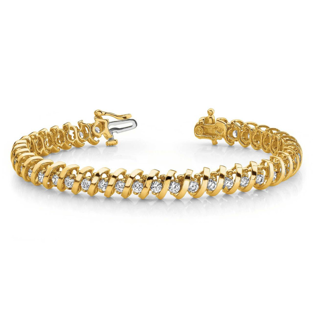 1.6mm Diamond Tennis Bracelet Mounting 14k Gold X2000