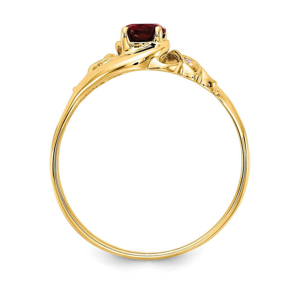 0.02ct. Diamond & 6x4 Oval Gemstone Ring Mounting 14k Gold Polished X9716