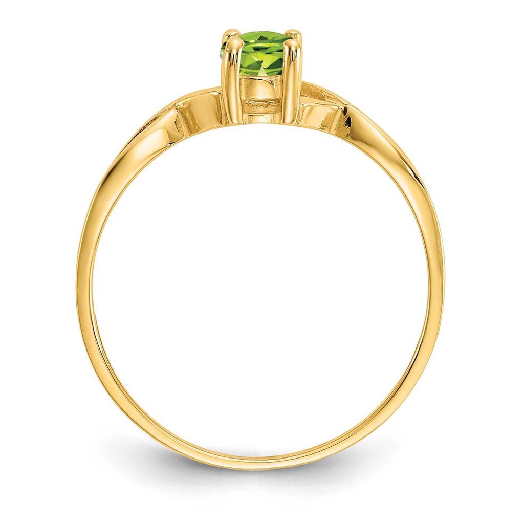 Peridot Birthstone Ring 14k Gold XBR233