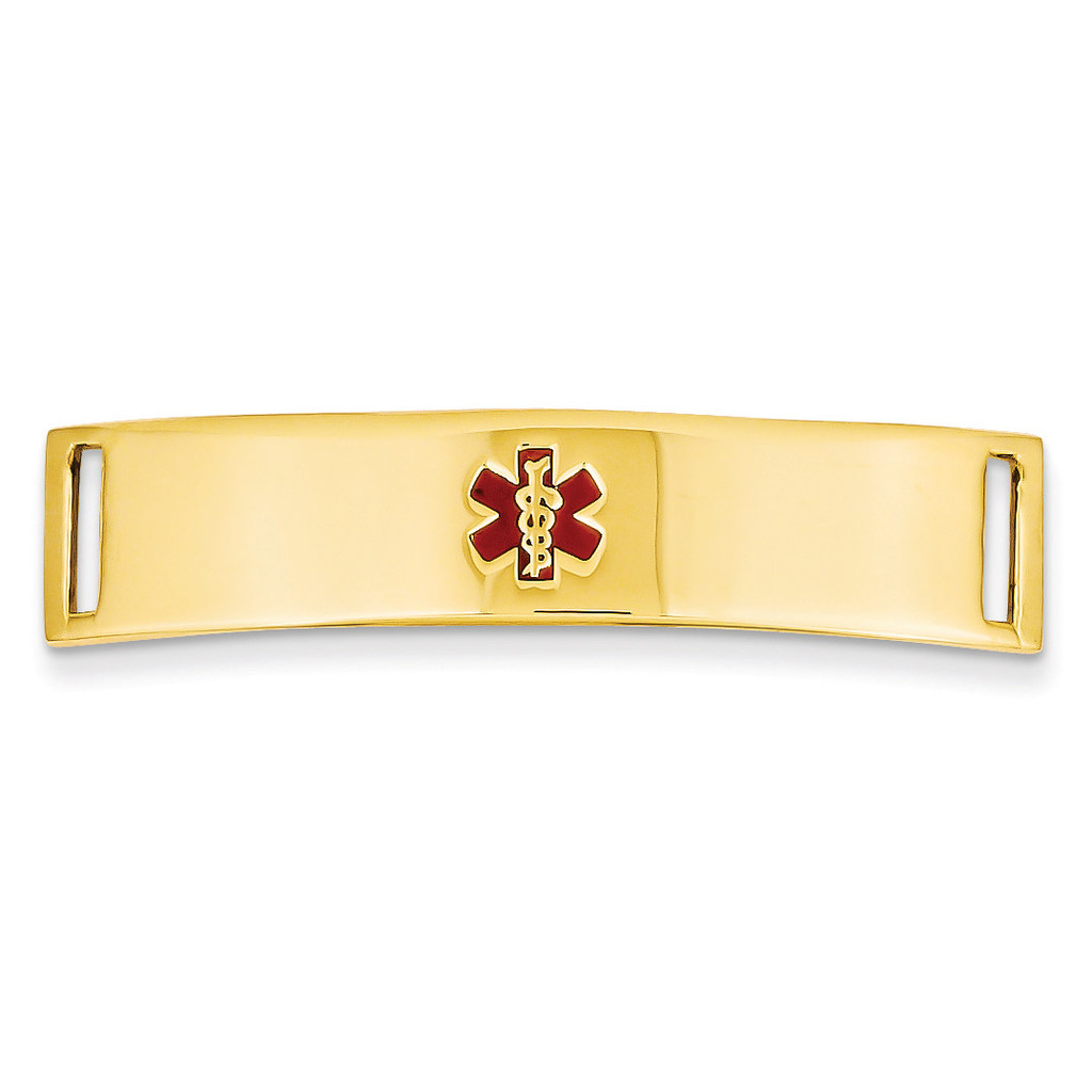 Medical Jewelry ID Plate 14k Gold XM388