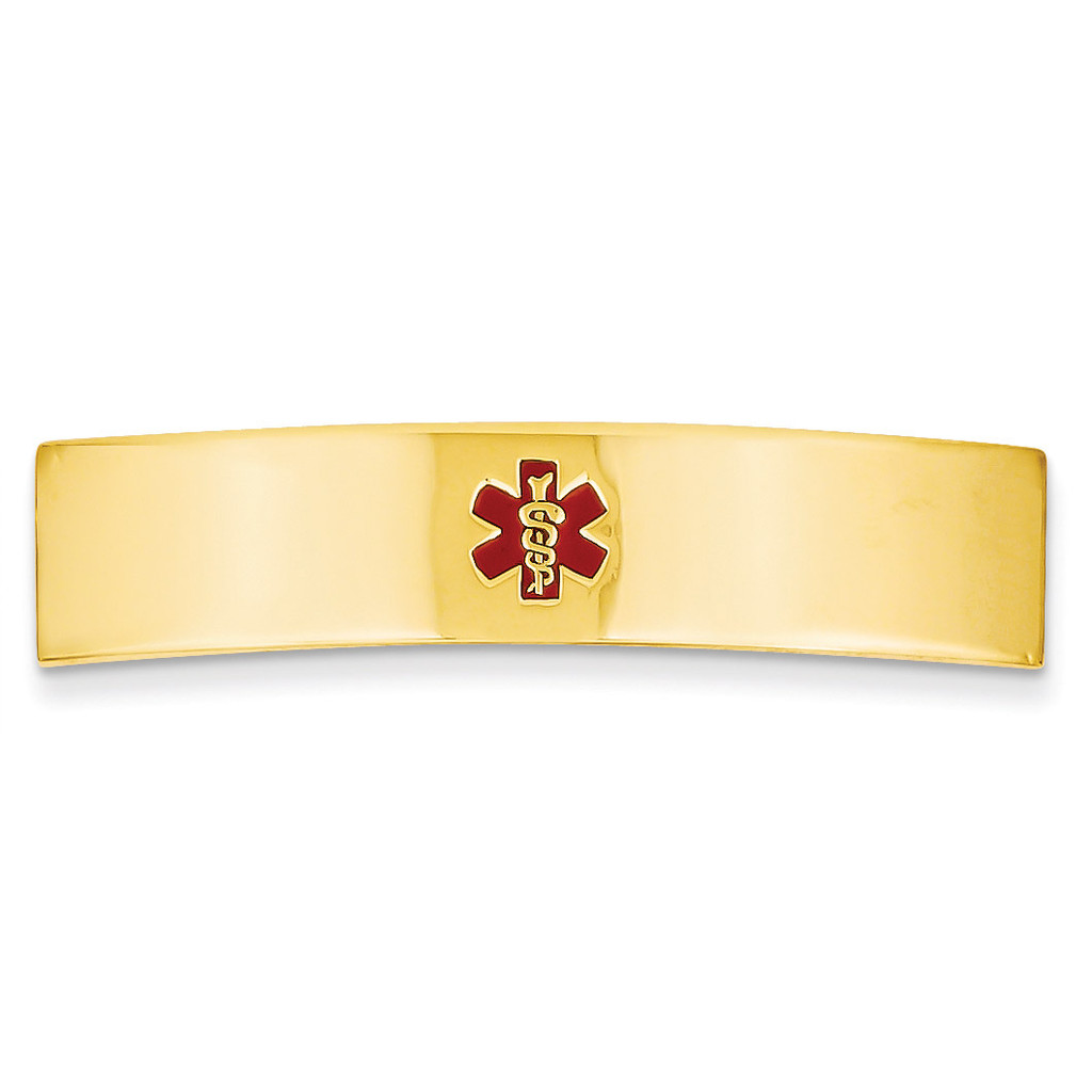 Medical Jewelry ID Plate 14k Gold XM391