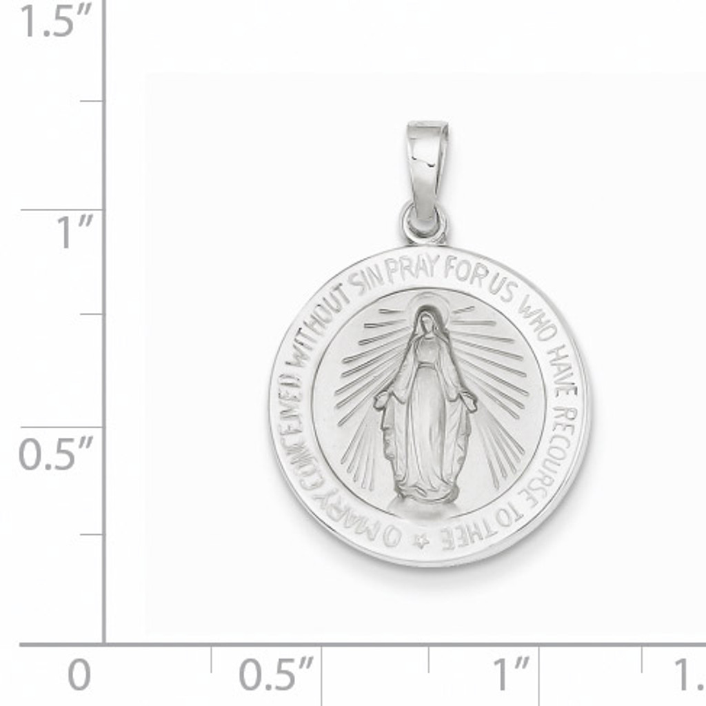 Miraculous Medal 14k White Gold XR520