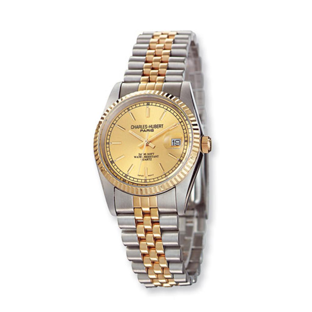 Mens Charles Hubert IP-plated Two-tone Gold-tone Dial Watch XWA499