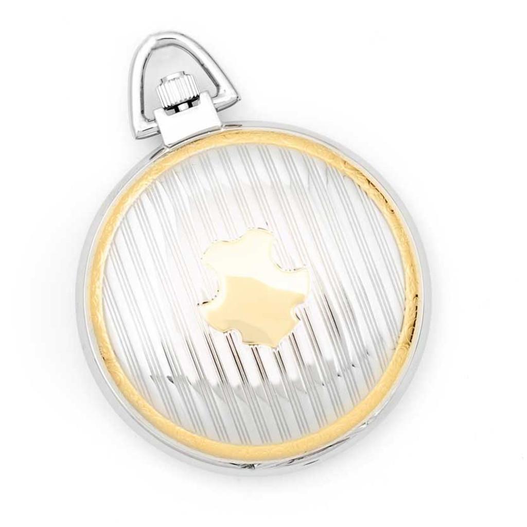Charles Hubert Gold Finish Two-tone White Dial Pocket Watch XWA616