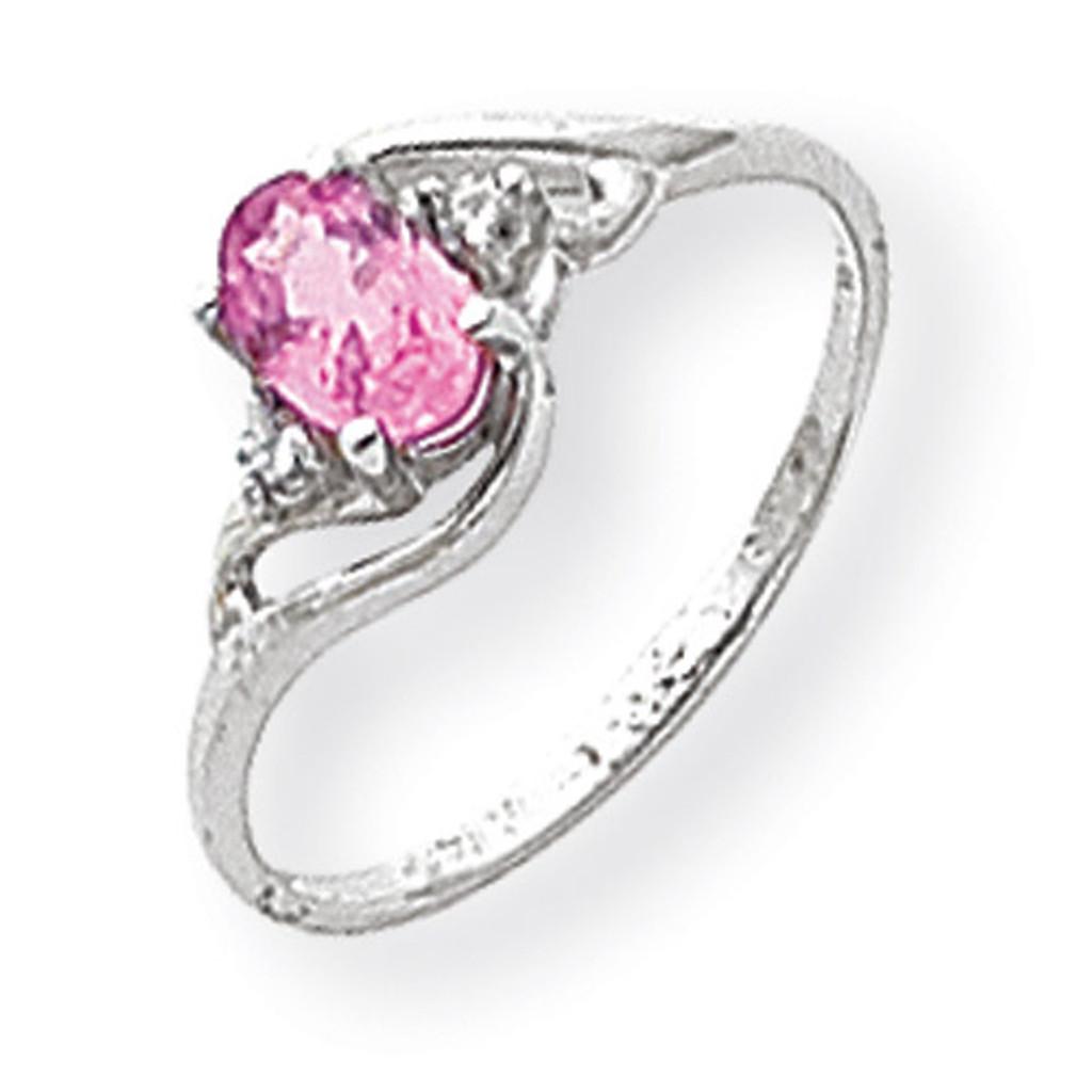Diamond & Gemstone Ring Mounting 14k White Gold Y2149