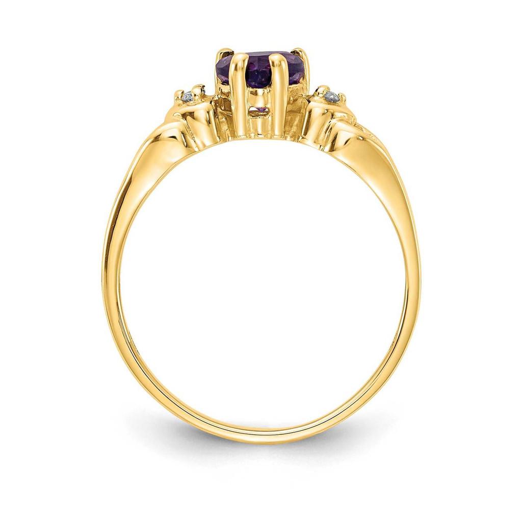 0.02ct. Diamond & 5mm Heart Gemstone Ring Mounting 14k Gold Polished Y2186