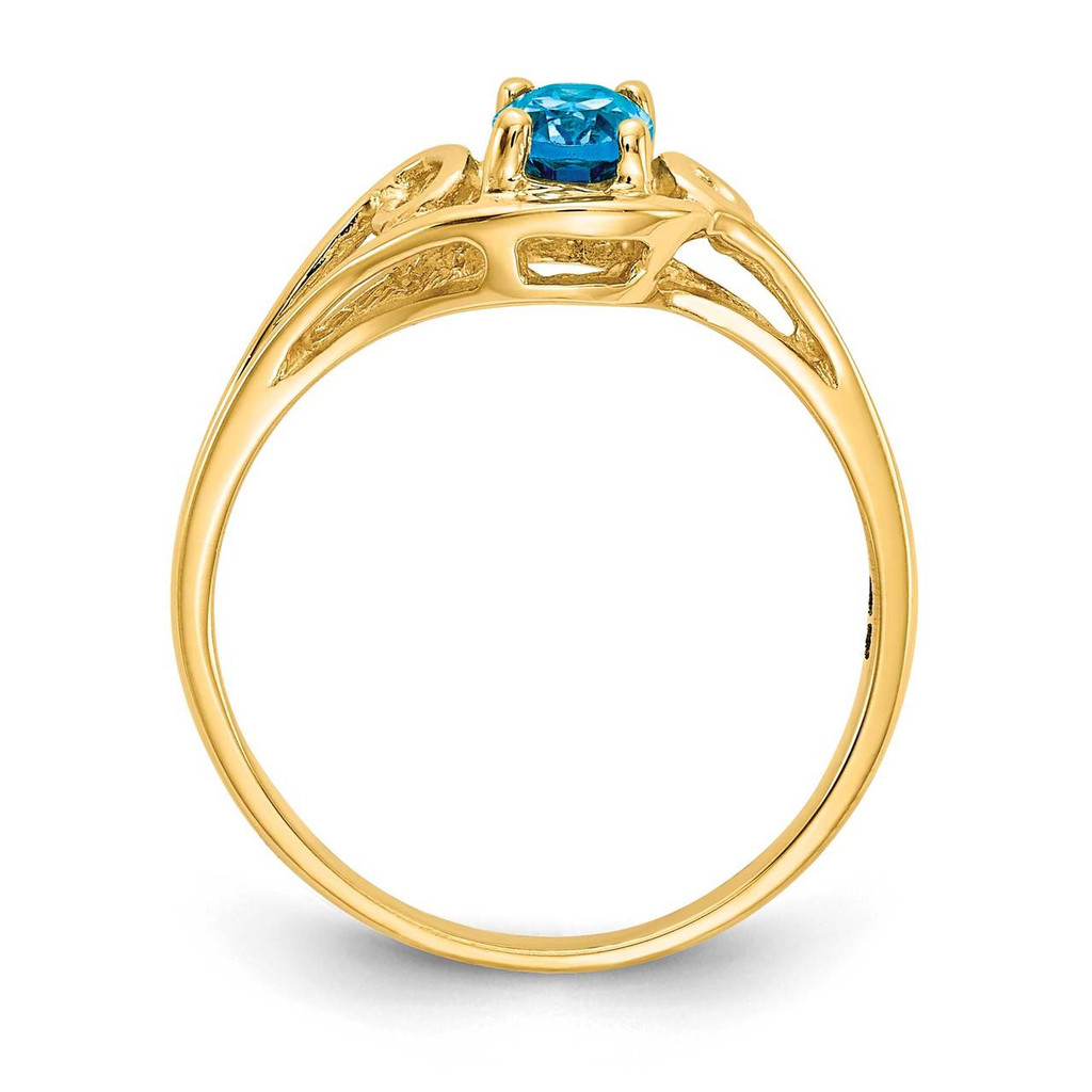 6x4 Oval Gemstone Ring Mounting 14k Gold Polished Y2205