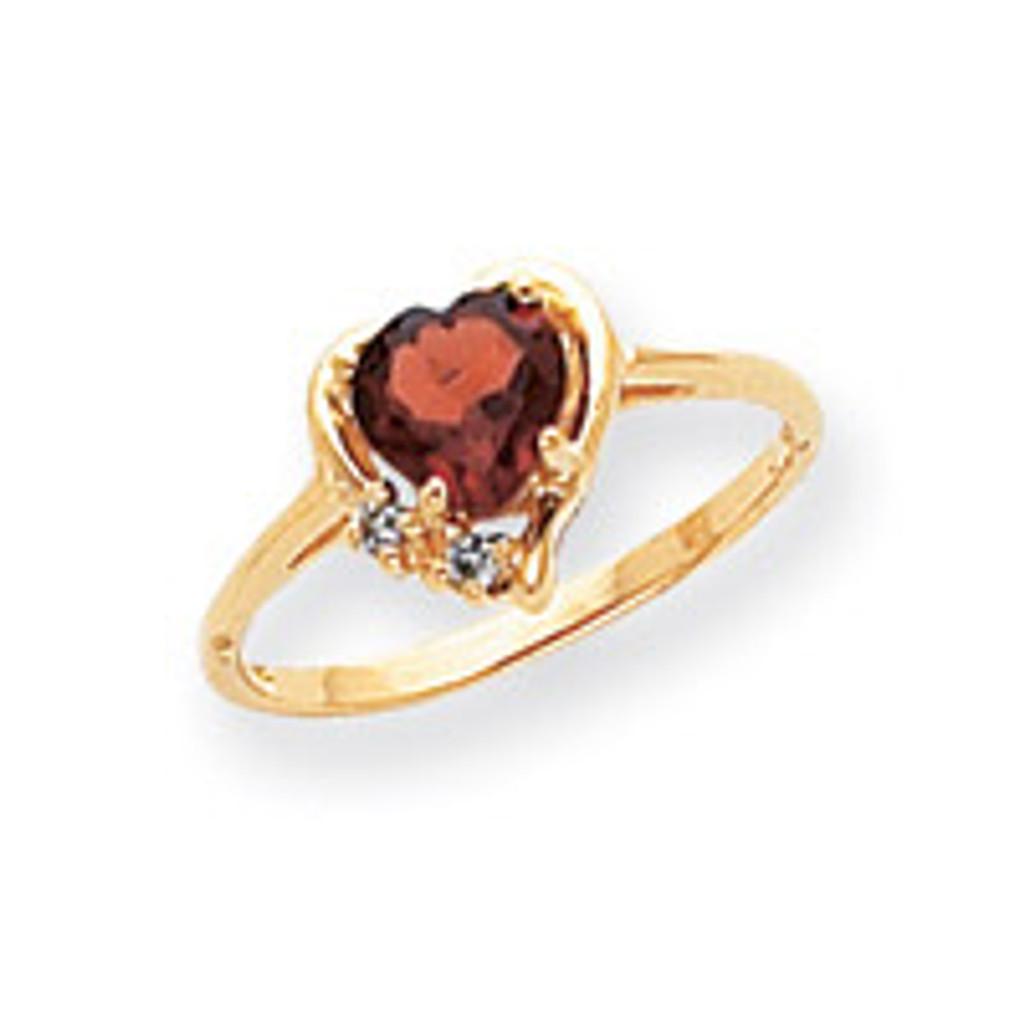 0.03ct. Diamond & 6mm Heart Gemstone Ring Mounting 14k Gold Polished Y2233